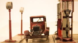 Petroliana and Gas Station Toy Truck Memorabilia